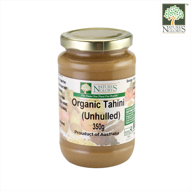 Tahini Unhulled (White) Ground Sesame Seeds Nature's Glory 350g (NA 8131P)