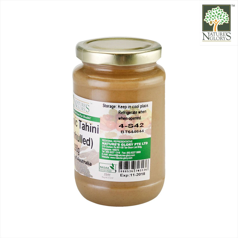 Tahini Unhulled (White) Ground Sesame Seeds Nature's Glory 350g (NA 8131P) - View 2