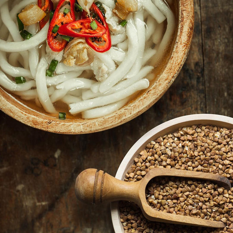 Udon Whole Wheat Noodles in Hot Broth