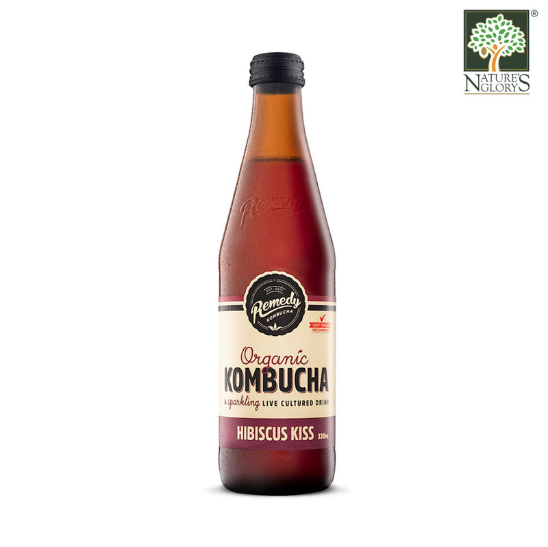 Remedy Organic Kombucha Hibiscus Kiss 330ml