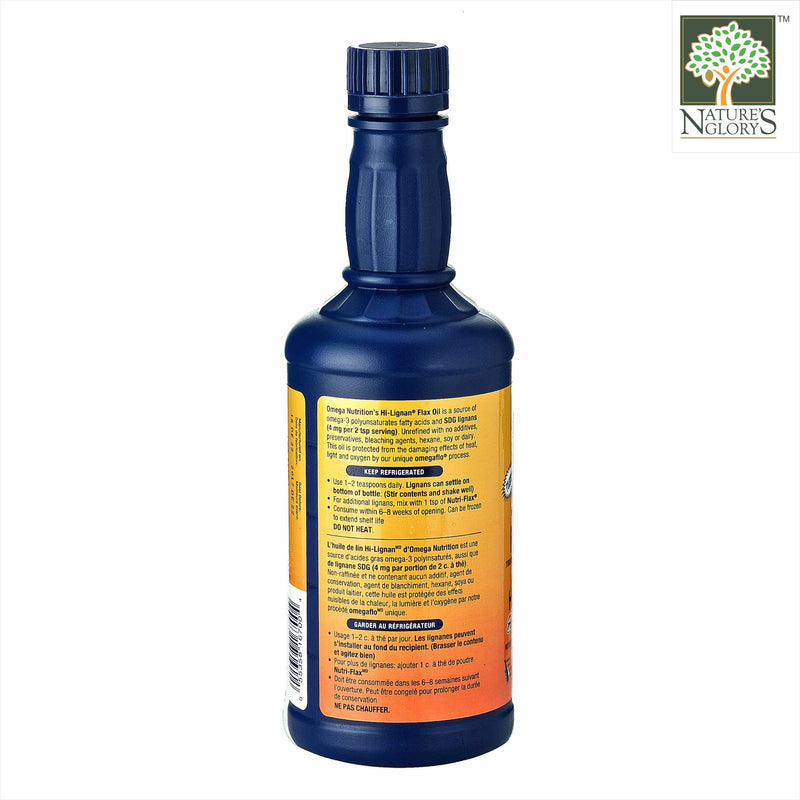 Omega Nutrition Hi-Lignan Flax Oil 473ml Organic - Product Description View 2