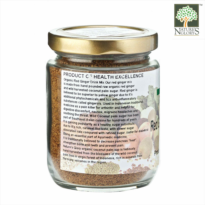 Red Ginger Drink Mix 150g Organic - Product Description View