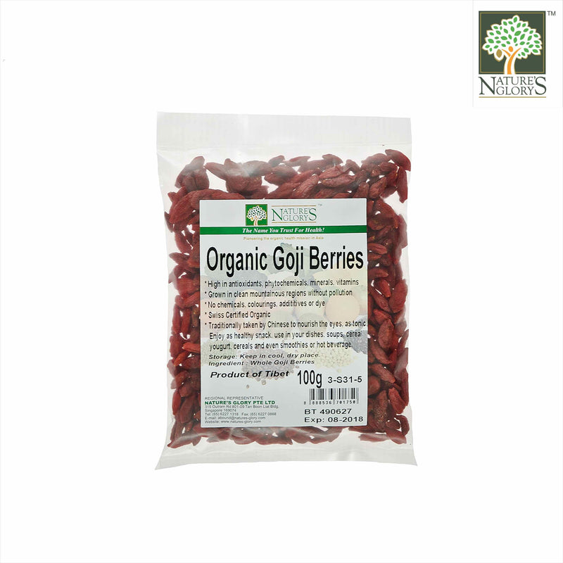 Organic Goji Berries Nature's Glory 100g