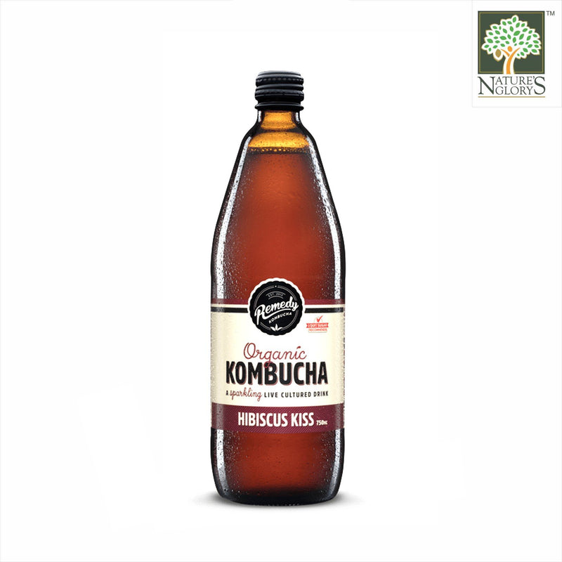 Remedy Organic Kombucha Hibiscus Kiss 750ml