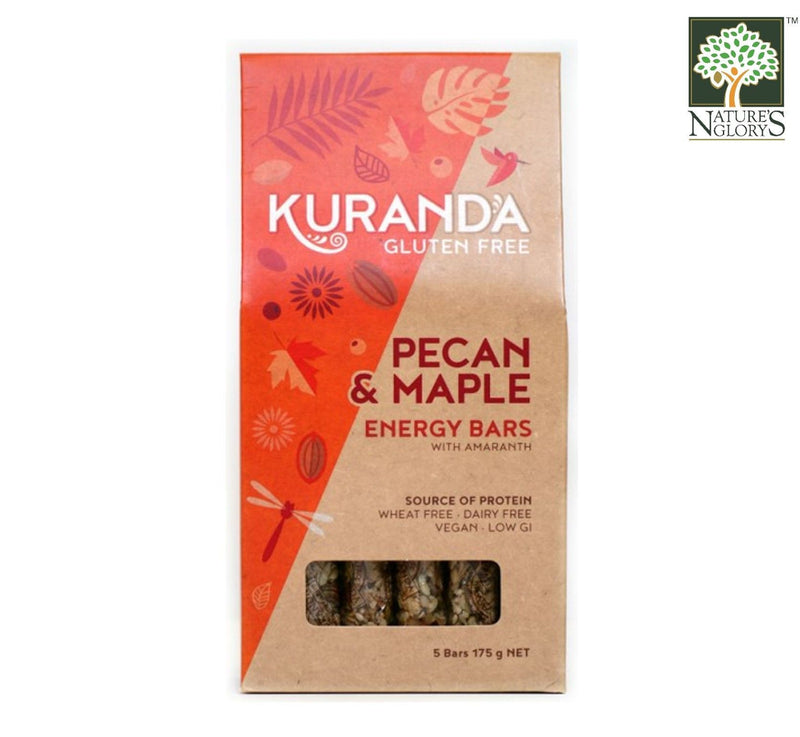 Pecan and maple Snax Bar Kuranda 160g GF.