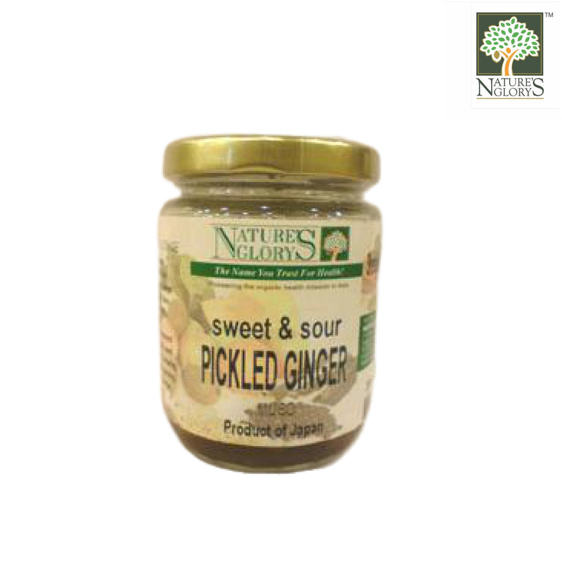 Pickled Ginger w Rice Malt Nature's Glory 200g