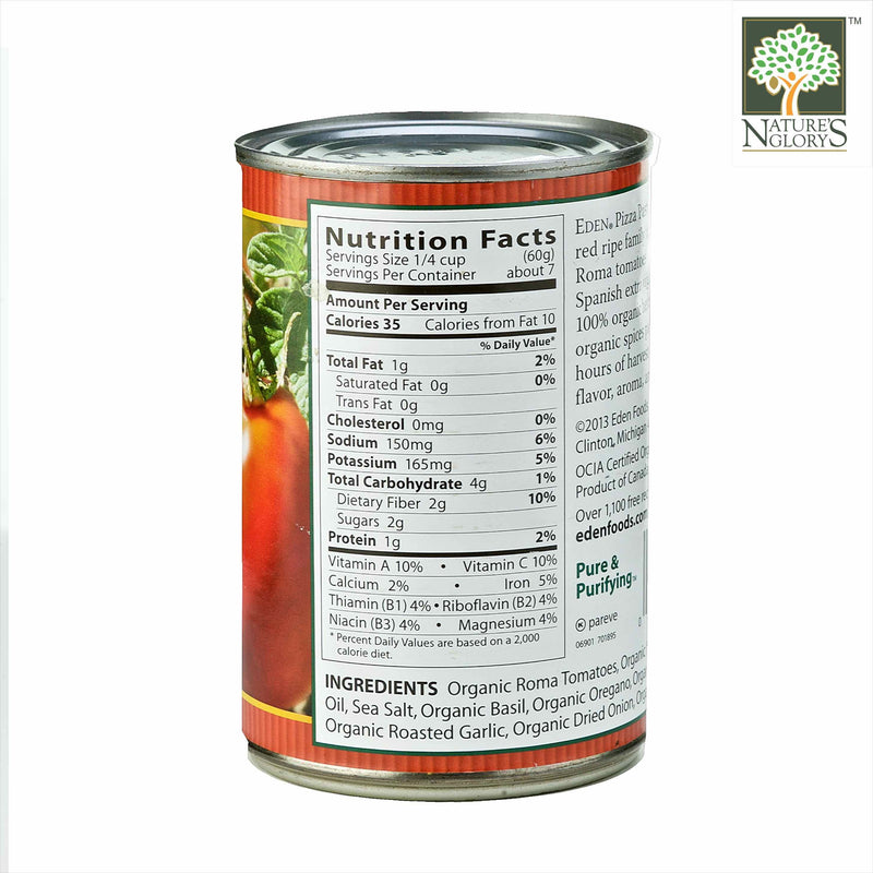 Pizza Pasta Sauce, Eden Organic (In Can) 425g - View 1
