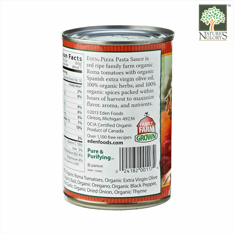 Pizza Pasta Sauce, Eden Organic (In Can) 425g - View 2