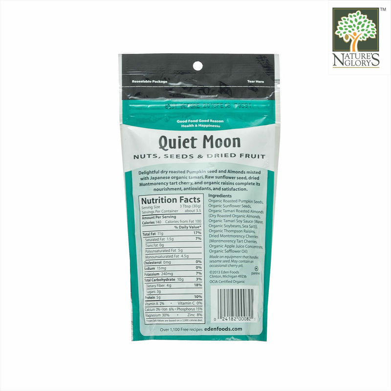 Quiet Moon Nut Seed Dried Fruit Eden 113g OG.