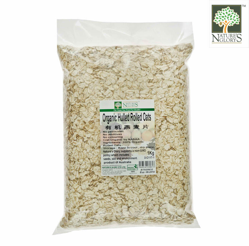 Rolled Oat (Unprocessed) Nature's Glory Organic (NA 8131P) 1kg