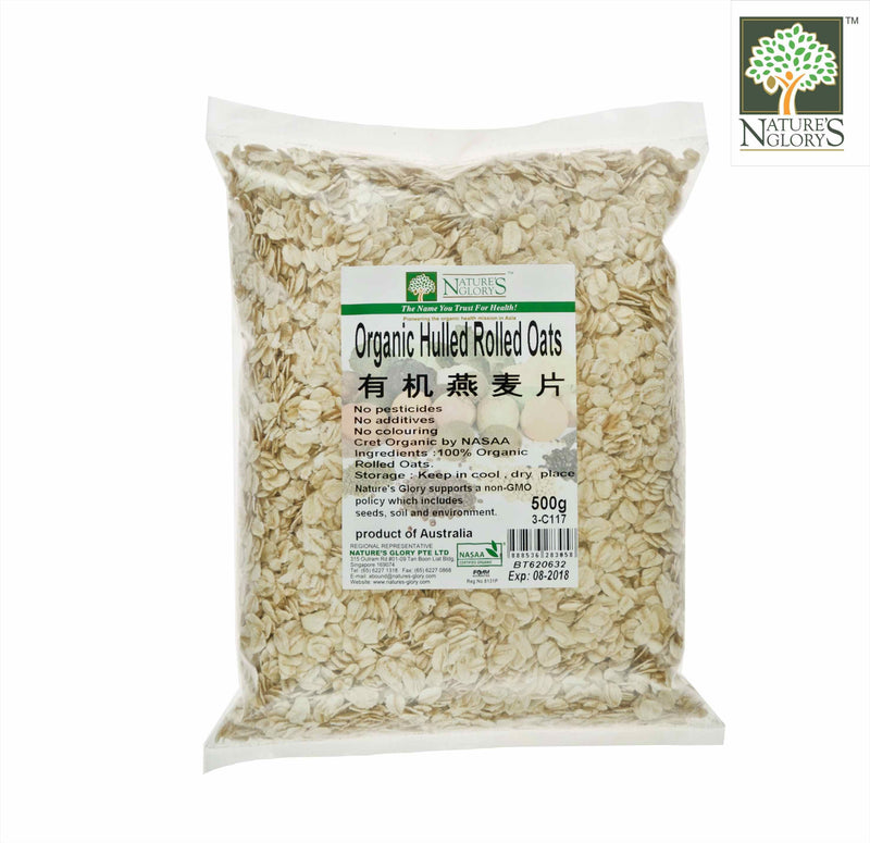 Rolled Oat (Unprocessed) Nature's Glory Organic (NA 8131P) 500g