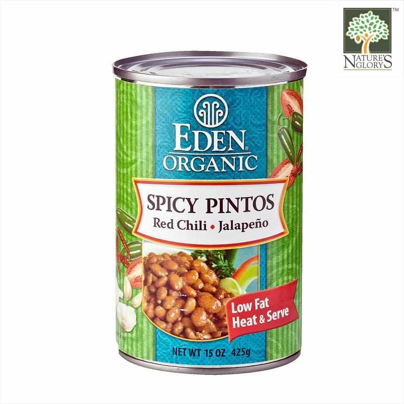 Spicy Pinto Bean Jalapeno Red Eden 425g OG.