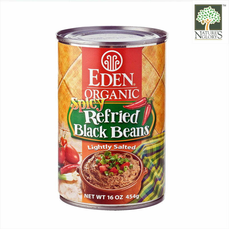 Spicy Refried Black Bean Eden 454g OG.
