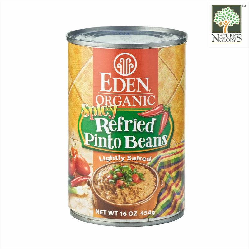 Spicy Refried Pinto Bean Eden 454g Organic.