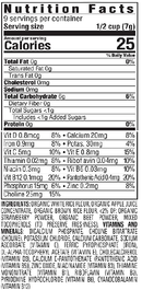 Superfood Puffs - Strawberry & Beet Happy BABY Organic 60g - Nutrition Facts