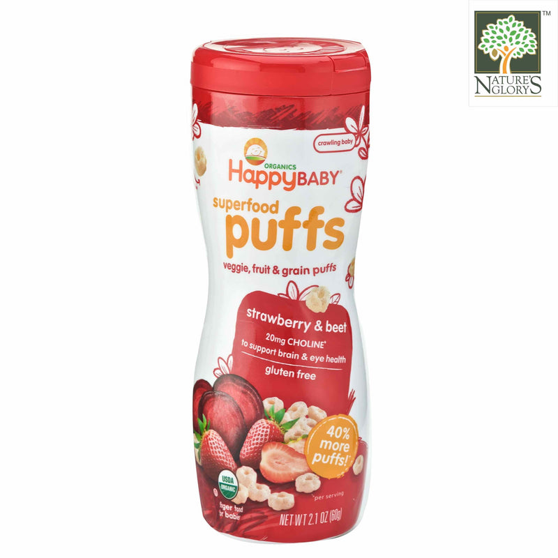 Superfood Puffs - Strawberry & Beet Happy BABY Organic 60g