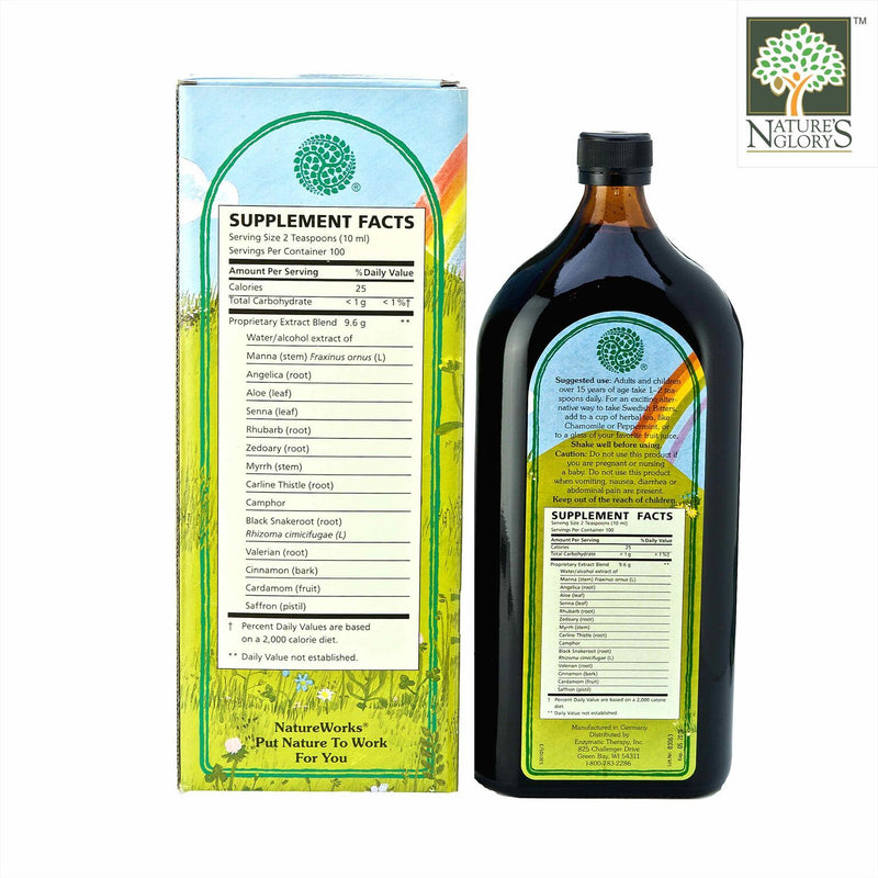 Swedish Bitters NatureWorks 1000ml with Box cover- Back View