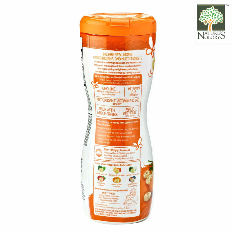 Superfood Puffs-Sweet Potato & Carrot Happy BABy Organic 60g - View 2