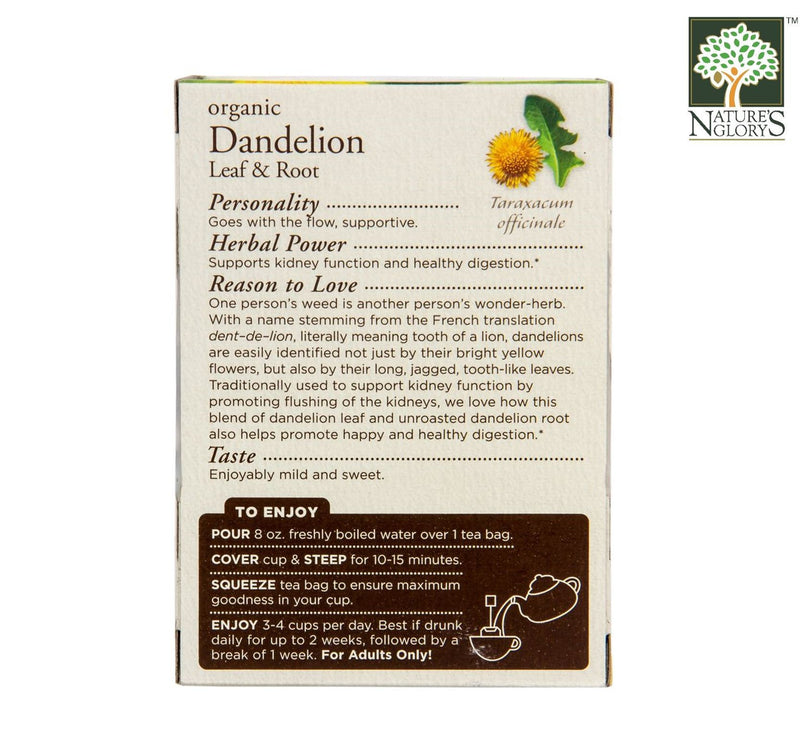 Organic Dandelion Leaf And Root Tea, Traditional Medicinals 16 bags - View 1