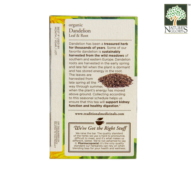 Organic Dandelion Leaf And Root Tea, Traditional Medicinals 16 bags - View 2