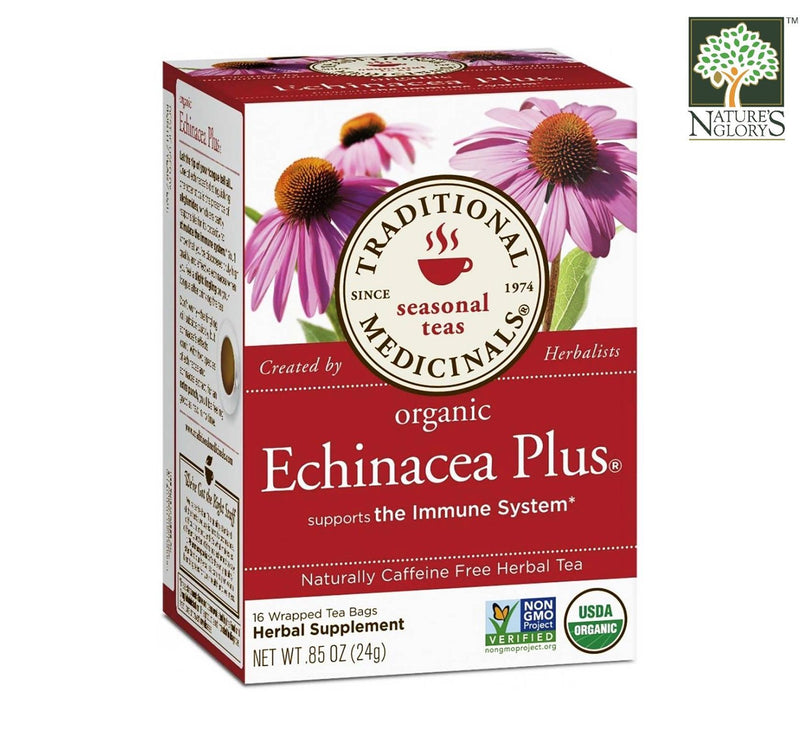 Traditional Medicinals Echinacea Plus Tea 16bags OG.