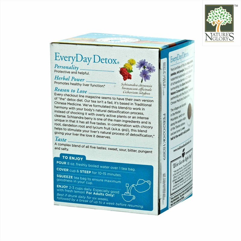Organic Everyday Detox Tea, Traditional Medicinals 16 wrapped Tea Bags/Box - View 1