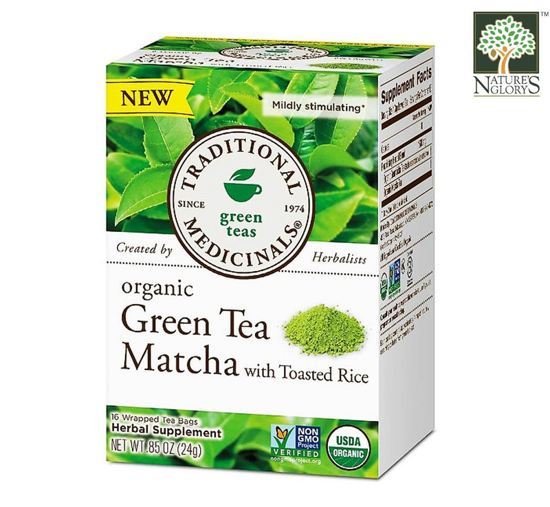 Traditional Medicinals Japanese Green Tea 16bags OG.