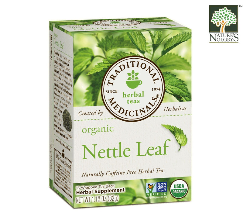 Organic Nettle Leaf Tea Traditional Medicinals 16 wrapped tea bags/box