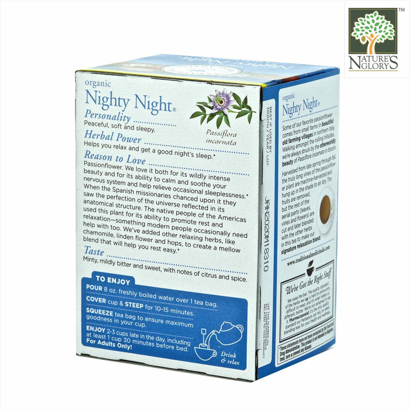 Traditional Medicinals Nighty Night Tea 16bags Organic.