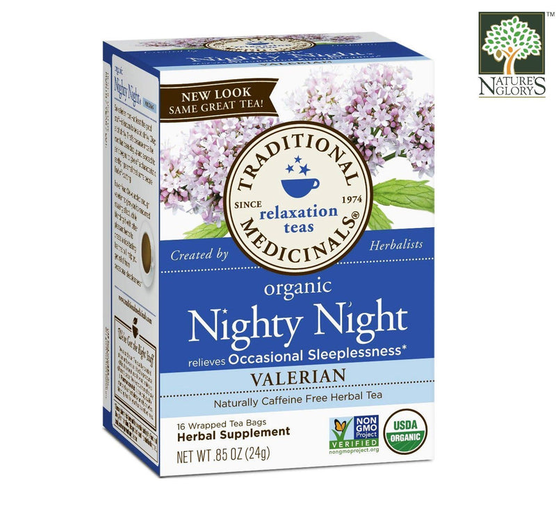 Traditional Medicinals Nighty Night Tea (Valerian) 16bags Organic.
