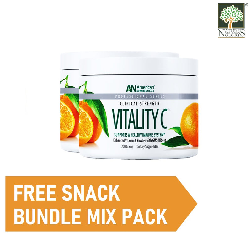 American Nutriceuticals Vitality C 200g (Best before: July 2021)