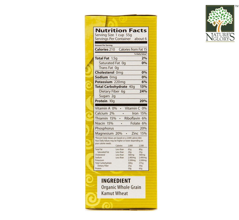 Whole Grain Kamut Spiral Pasta Eden Organic 340g - View 3