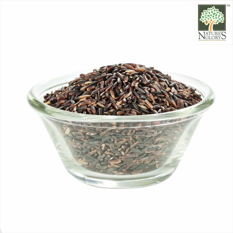 Wild Black Rice Nature's Glory Organic In A Bowl