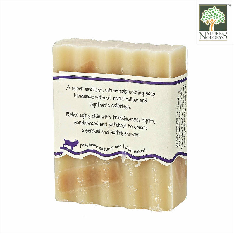 Zum Bar Goat's Milk Soap, Frankincense-Patchouli 3 oz - Back View