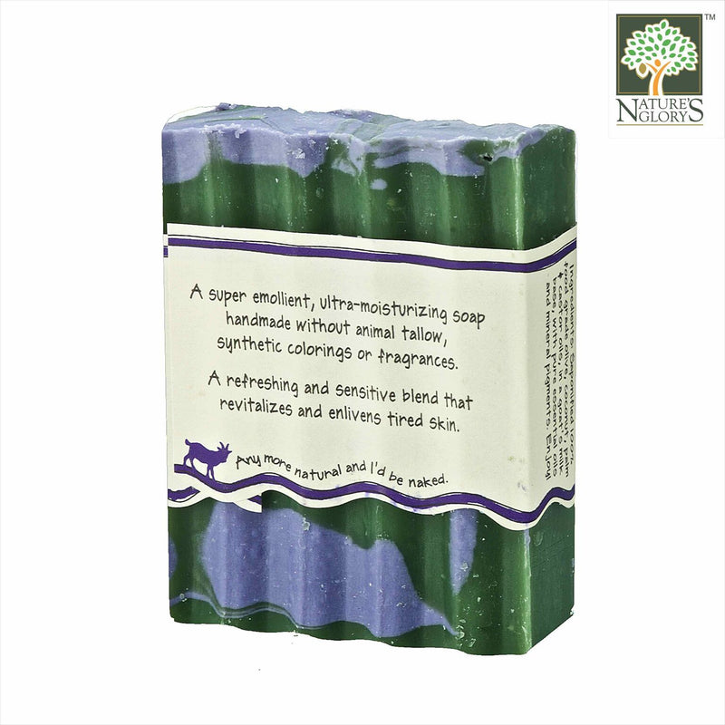 Zum Bar Goat's Milk Soap, Lavender-Mint 3 oz - Back View