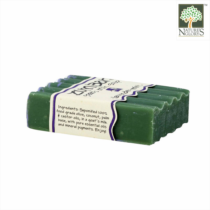 Zum Bar Goat's Milk Soap, Lavender-Mint 3 oz - Side Bar