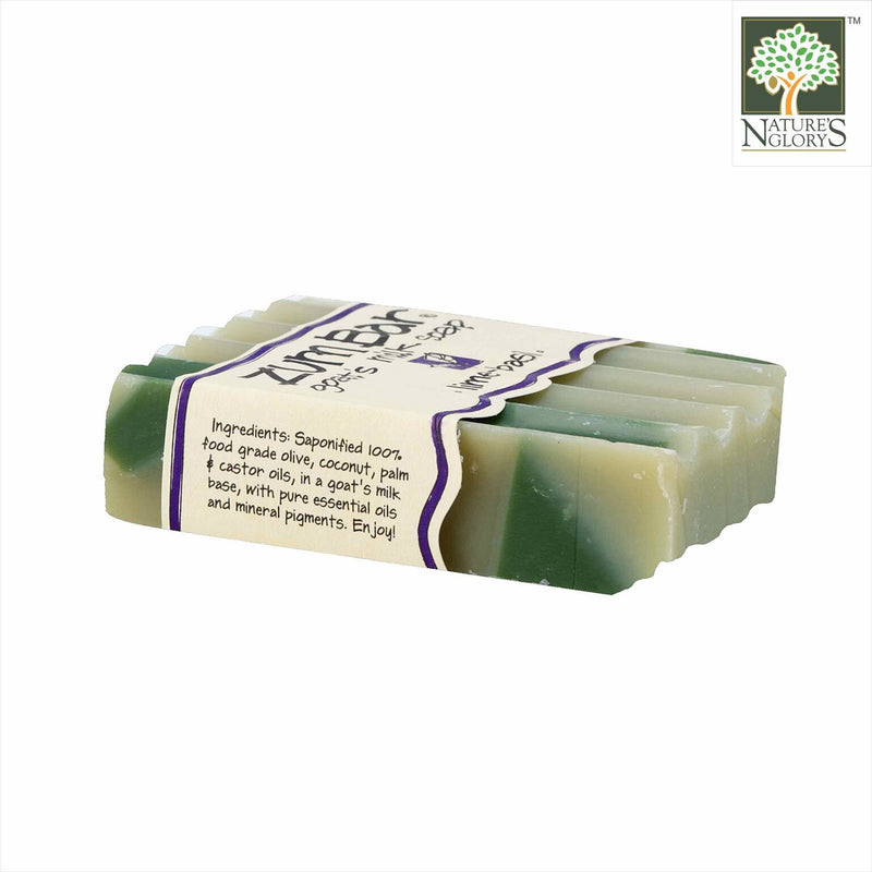Zum Bar Goat's Milk Soap, Lime-Basil 3 oz - Side View