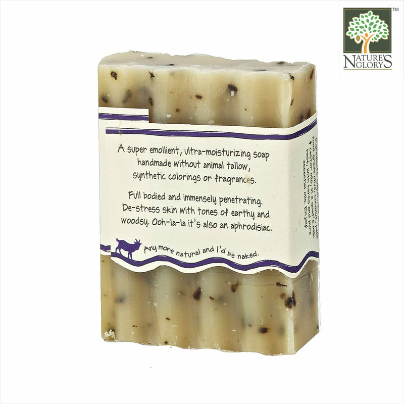 Zum Bar Goat's Milk Soap, Patchouli 3 oz - Back View