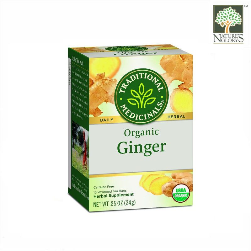 Organic Ginger Tea, Traditional Medicinals 16 bags