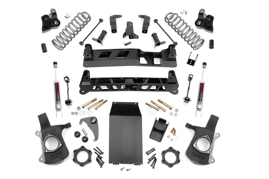 Rough Country 6-inch Non-Torsion Drop Suspension Lift System