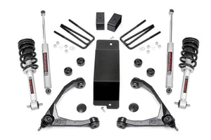 3.5in GM Suspension Lift Kit Upper Control Arms N3 Struts (14-16 1500 PU 4WD)