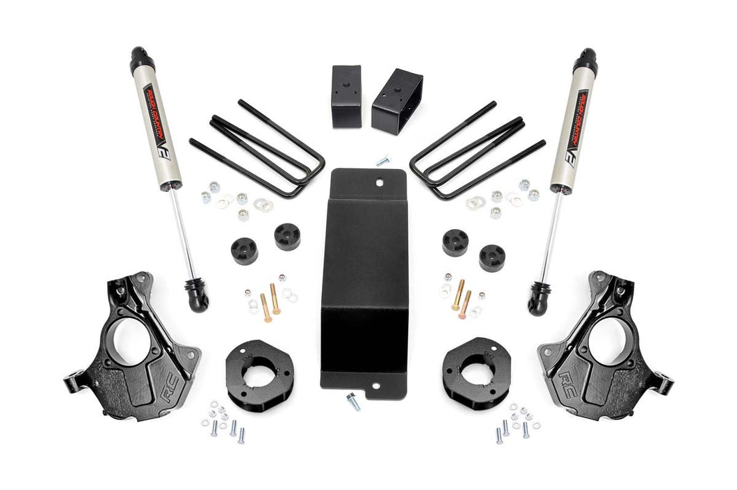 3.5in GM Suspension Lift Knuckle Kit w/ V2 Monotube (14-18 1500 PU 4WD Aluminum & Stamped Steel)