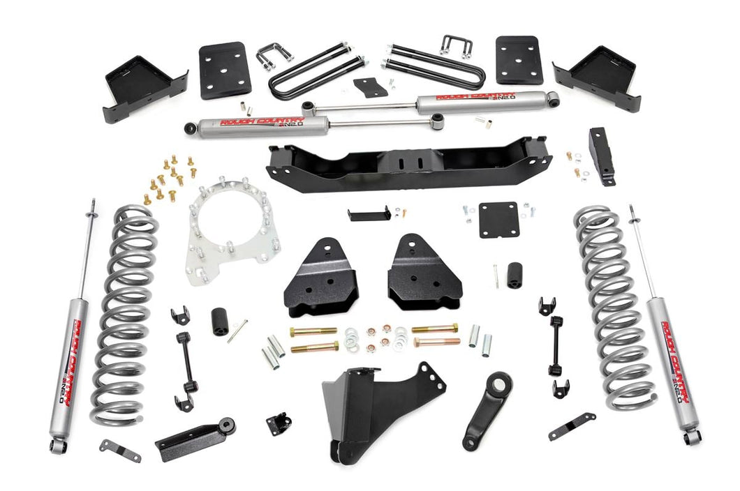 Rough Country 6-inch Suspension Lift Kit (Diesel Engine Overload Spring Models w/ 4-inch Rear Axles)