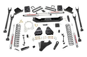 Rough Country 6-inch 4-Link Suspension Lift Kit (Diesel Engine Overload Spring Models w/ 4-inch Rear Axles)