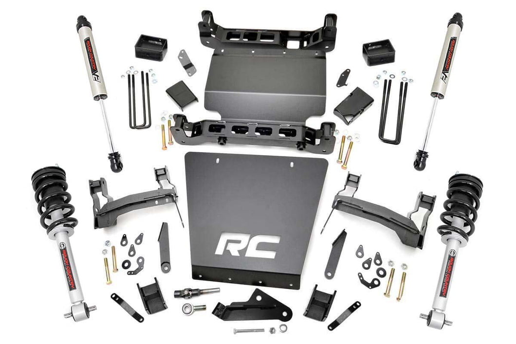 7in GM Suspension Lift Bracket Kit w/Struts & V2 Shocks (14-18 1500 PU 4WD)