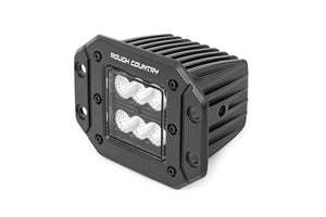 2-inch Square Flush Mount Cree LED Lights - (Pair Black Series Flood Beam)