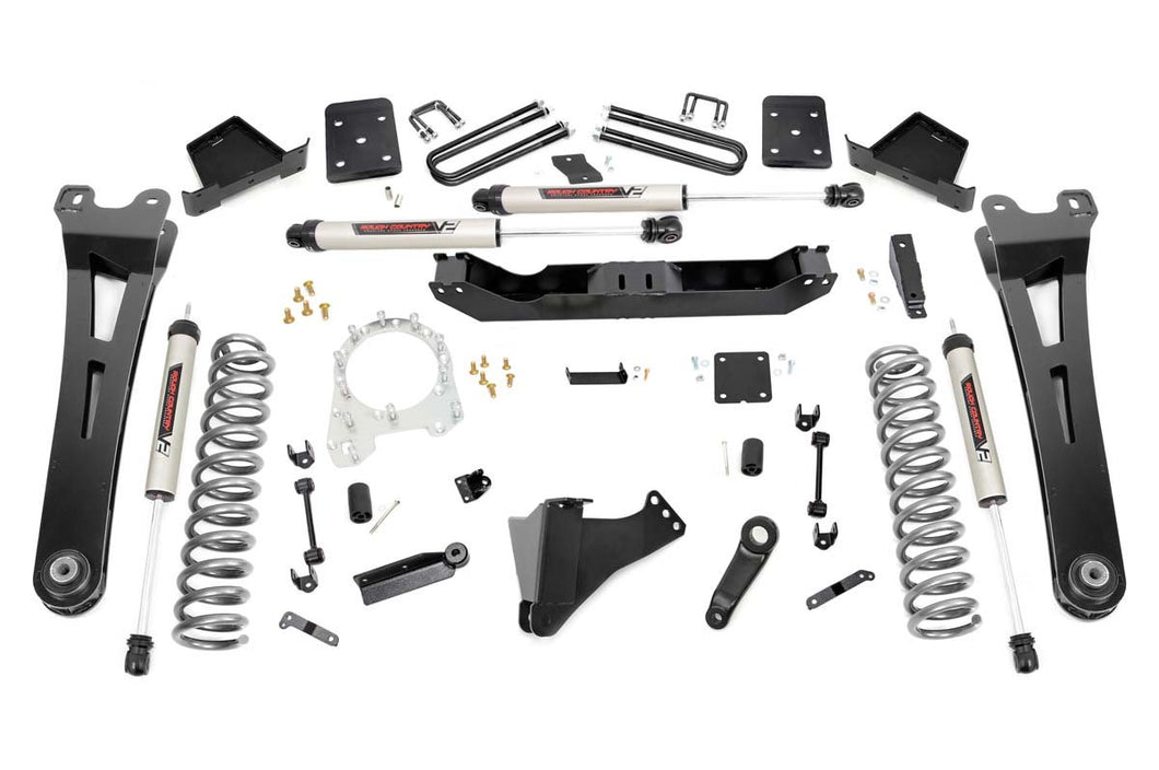 6in Ford Suspension Lift Kit w/ Radius Arms & V2 Shocks (17-19 F-250/350 4WD Diesel)