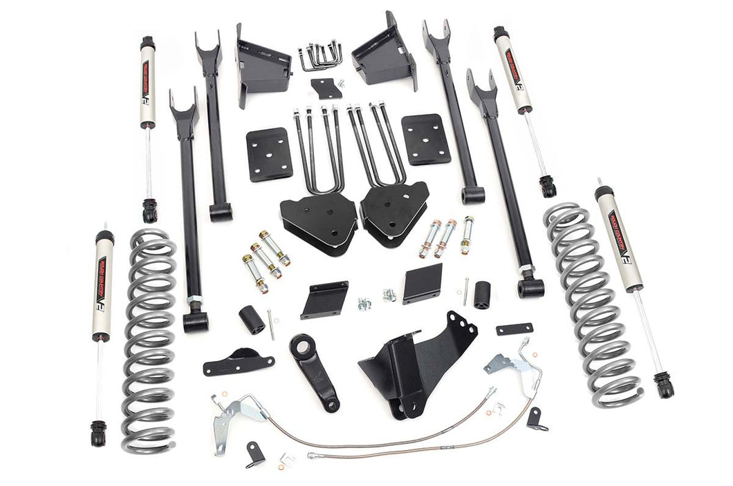 6in Ford Suspension Lift Kit 4-Link w/V2 Shocks (15-16 F-250 4WD)