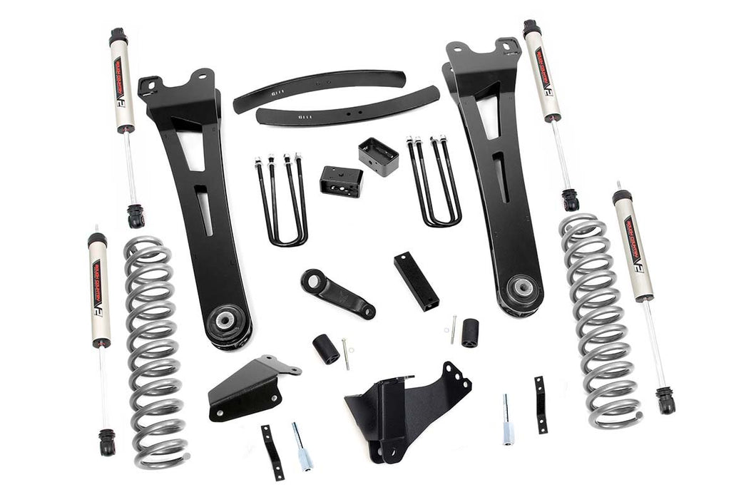 6in Ford Suspension Lift Kit Radius Arms w/ V2 Shocks (05-07 F-250/350 4WD)