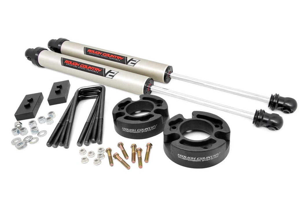 2.5in Ford Leveling Lift Kit w/ V2 Shocks (04-08 F-150)